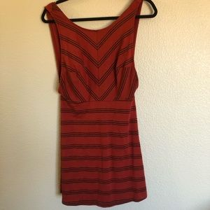 NWT Free People red & black skater dress, small